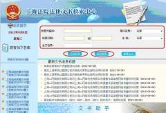 上海法院検索ページ