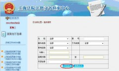 上海法院高級検索画面