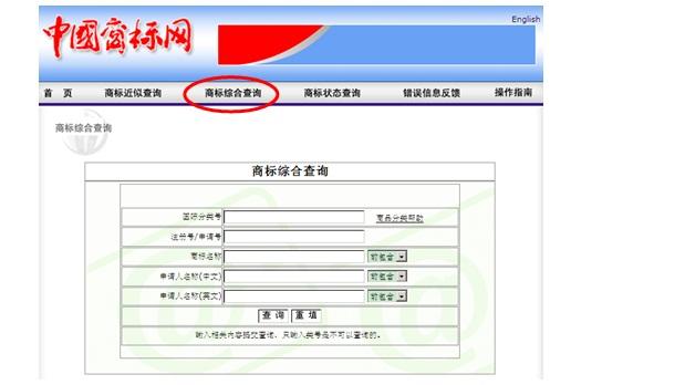 商標の総合的検索画面