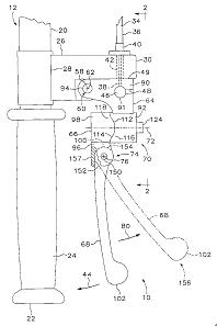 被証4:68 handle section; 92 frame portion