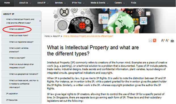 「What is Intellectual Property and what are the different types?(知的財産及びその様々な種類とは?)」のページ