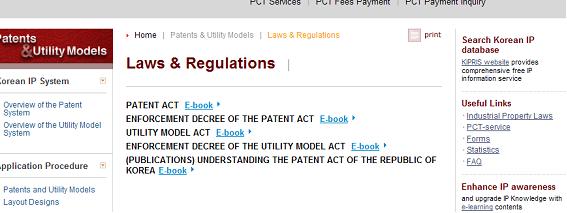 特許関連法令の一覧