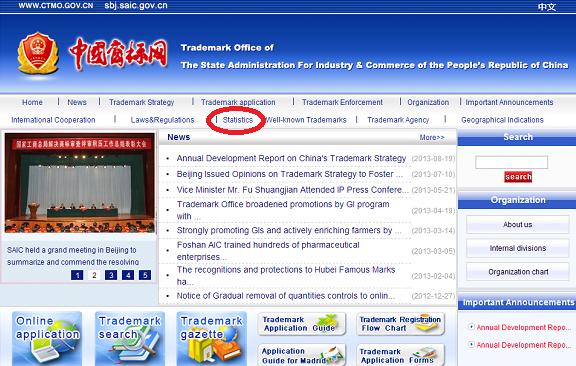 SAICウェブサイト(英語版)のトップ画面