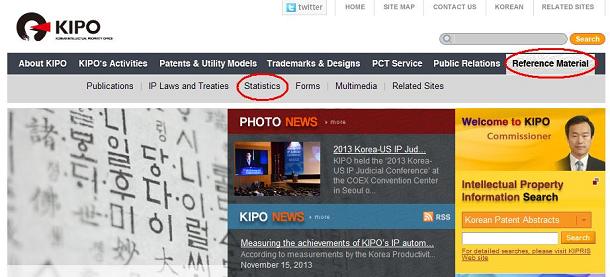 KIPOウェブサイト(英語版)トップ画面