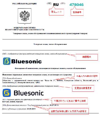 「商標及び役務/その他の公告」の478046の詳細情報