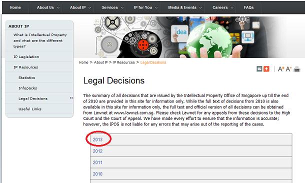 「Legal Decisions」のページ