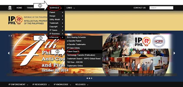 フィリピン知的財産権局 トップページ