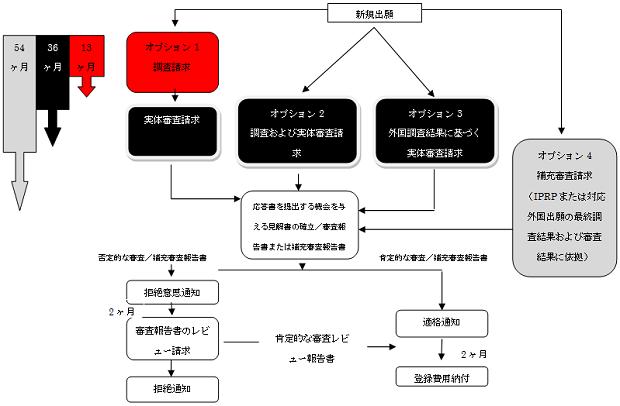 特許審査手続きフローチャート